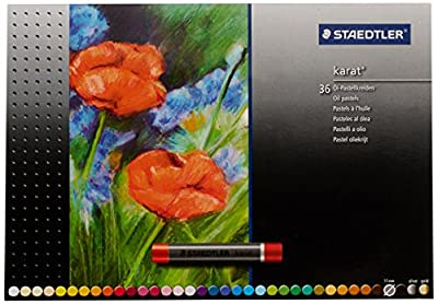 Staedtler Karat Studio Quality Oil Pastels Set of 36 Color-Intensive Colors in Heavy-Duty Cardboard Storage Case (2420C36)