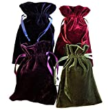 Tarot Rune Bag Bundle of 4: Moss Green, Navy Blue, Purple, Wine 6