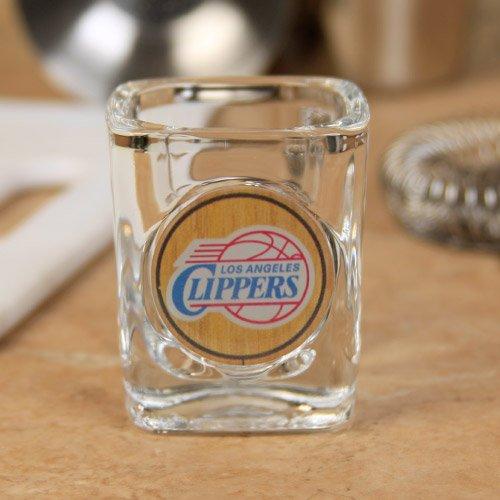 NBA Los Angeles Clippers 2 oz. Crystal Coat Emblem Square Shot Glass