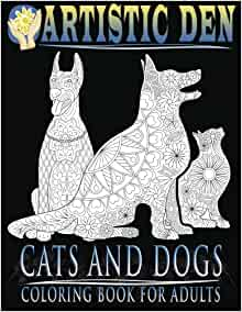 Amazon Cats And Dogs Coloring Book For Adults Unique