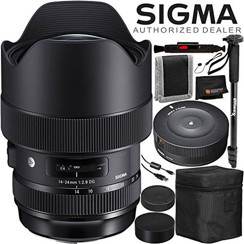 Sigma 14-24mm f/2.8 DG HSM Art Lens for Nikon F – 6PC Accessory Bundle