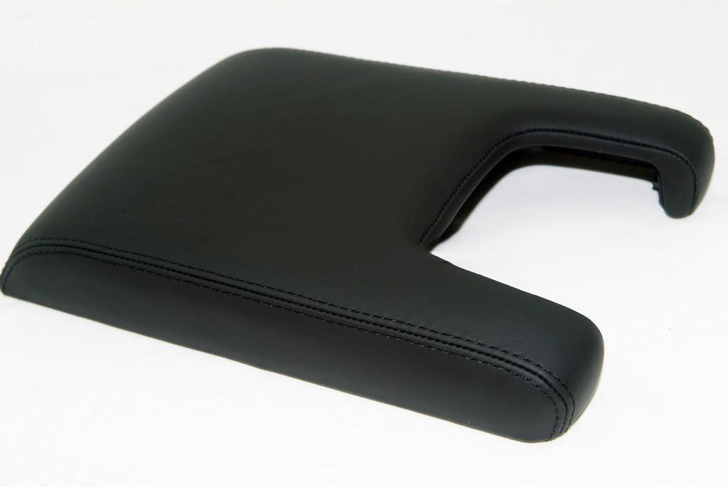 Acura TL Center Console Lid Armrest Cover Real Leather Black (Leather Part Only) AAAUPHOLSTER