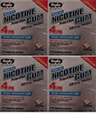Nicotine Gum 4mg Sugar Free Original Generic for Nicorette 110 Pieces per Box Pack of 4 Total 400 Pieces