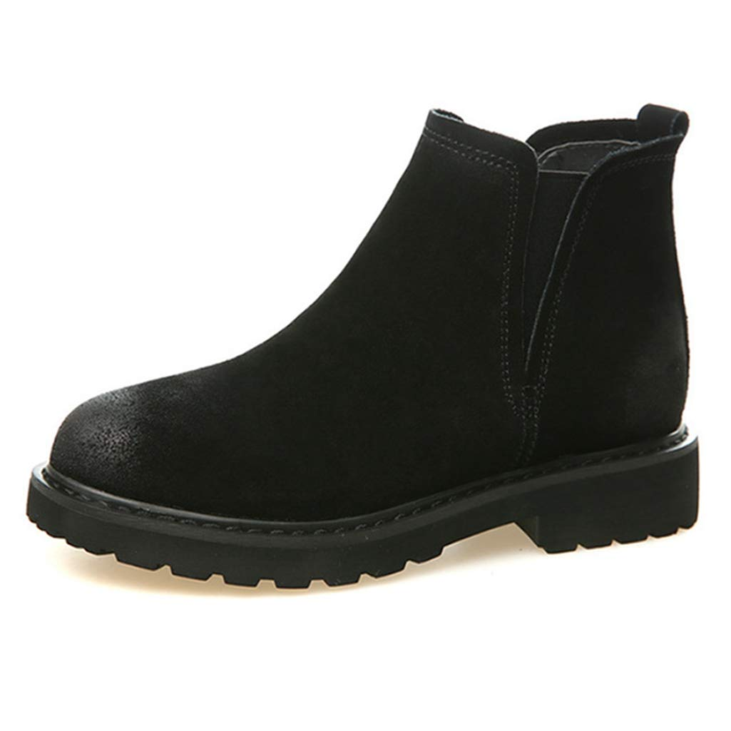 Black For Autumn Fay Waters Women's Martin Boots Genuine Leather Pointed Toe Snow Boots Ankle Winter Booties Warm shoes