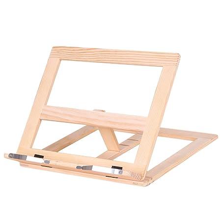 cocina con 2 soportes de metal para libros de cocina 33,5 x 24 cm recetas tabletas iPad Soporte para libro de recetas de bamb/ú para lectura