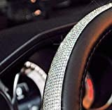 New FatElvis Goods Car Steering Wheel Cover Bling Bling Crystals Car Handcraft Steering Wheel Covers Leather for Man, Women, Wifey, Girls, Everyone!