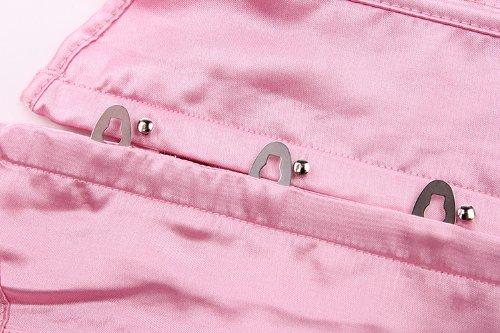 E-SHINE CO De la Mujer Rocker Estilo Chaleco Underbust Moda cors¨¦ de Cintura Rosa