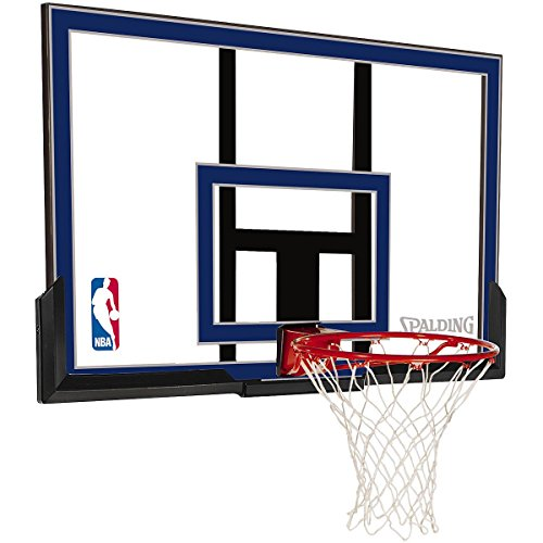 Spalding Wall Mount Basketball Hoop with 50-Inch Acrylic Backboard – DiZiSports Store