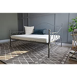 DHP Victoria Daybed Metal Frame, Multifunctional, Includes Metal Slats, Twin Size, Bronze