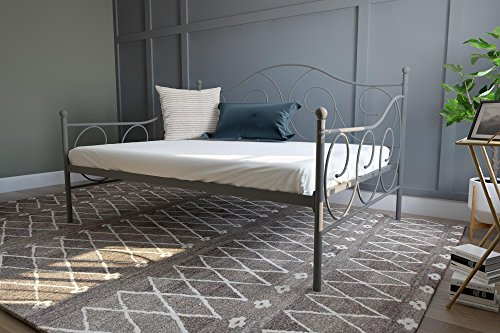 DHP Victoria Daybed Metal Frame, Multifunctional, Includes Metal Slats, Full Size, - Slat Garden Spring Bed