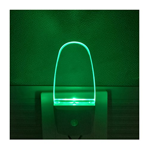 Dark Green Night Light - Plug in LED Night Light with Auto Sensor for Adults, Kids, 2 Pack, Green