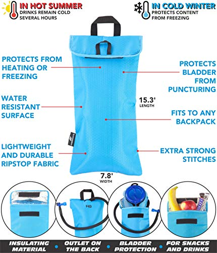 No.1 Hydration Pack Backpack with 2L Water Bladder & Cooler Bag KEEPS DRINK COOL   Lightweight – Fully Adjustable – Leakproof   Multiple Compartments   6L Capacity   Camel Pack For Sports Enthusiast