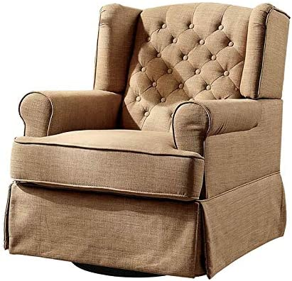 Excellent Amazon Com Furniture Of America Elmer Swivel Glider Rocker Caraccident5 Cool Chair Designs And Ideas Caraccident5Info