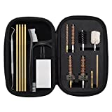 BOOSTEADY 7.62MM AK/SKS Cleaning Kit Pro .223/5.56 AR15/M16 Rifle Gun Cleaning Kit with Bore Chamber Brushes Metal Pick Kit Brass Cleaning Rod in Zippered Organizer Compact Combo Case