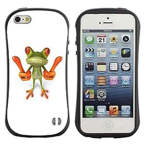 Paccase / Suave TPU GEL Caso Carcasa de Protección Funda para - Smart Frog Funny Cartoon Minimalist White - Apple Iphone 5 / 5S