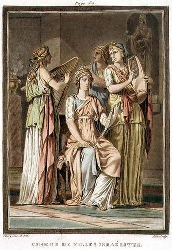 Philippe Chery Chorus of Israelite Women, costumes for 'Esther', from Volume ... (Israelite Costume)