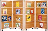 mobile case display - Jonti-Craft 0267JC Mobile Library Bookcase, 4 Sections