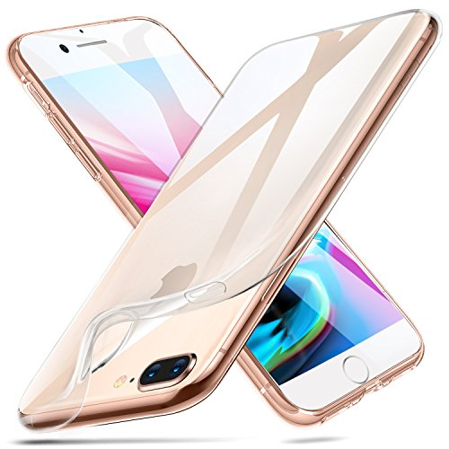 ESR iPhone 8 Plus Case, iPhone 7 Plus Case,Slim Clear Soft TPU Cover [Support Wireless Charging] for Apple 5.5
