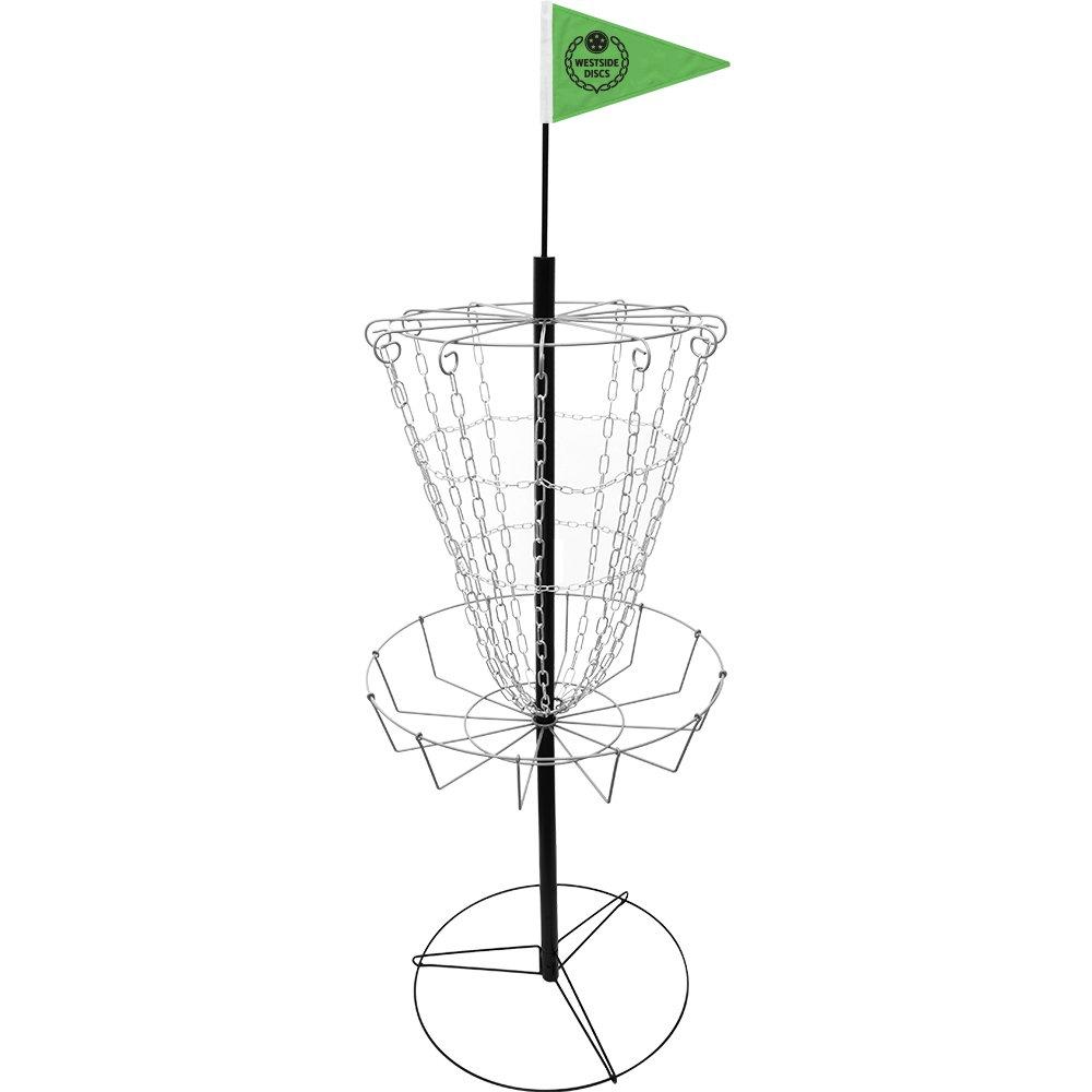 Westside Discs Weekender II Disc Golf Basket Portable Practice Disc Golf Target - Lightweight and Easy to Assemble Frisbee Golf Basket