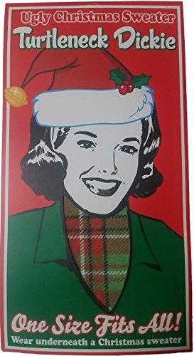 Plaid Christmas Turtleneck Dickie