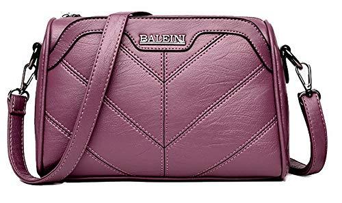 GMDBB181675 Purple Bags Style Women's Casual Crossbody AgooLar Bags Satchel PU w6q8x7FU