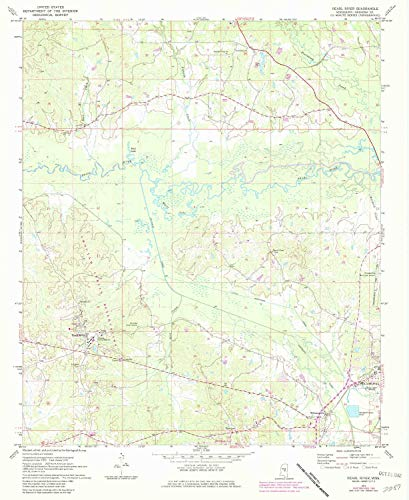 YellowMaps Pearl River MS topo map, 1:24000 Scale, 7.5 X 7.5 Minute, Historical, 1972, Updated 1982, 26.8 x 22 in - Polypropylene ()