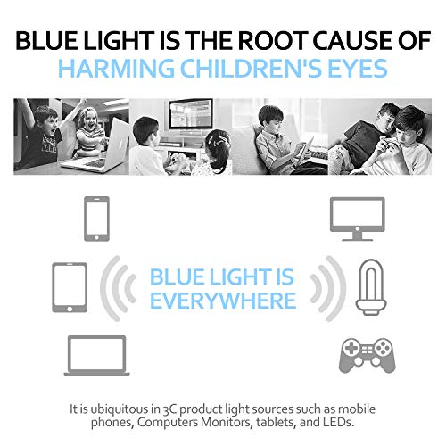 Blue Light Blocking Glasses for Kids, UV400 Protection,Anti Blue Ray Computer Game Glasses