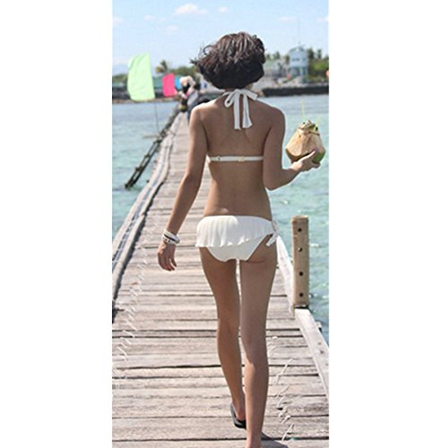 Aidonger - Vs mujer bikini-set push-up Blanco
