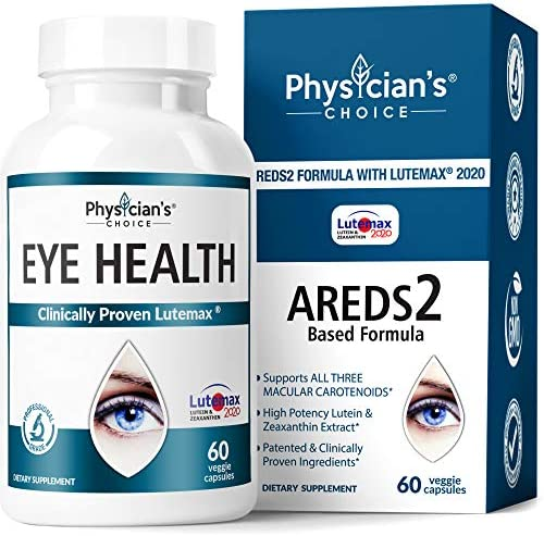 Areds 2 Eye Vitamins (Clinically Proven LuteMax 2020) Lutein and Zeaxanthin Supplement, Supports Eye Strain, Dry Eye and Vision Health, 2 Award Winning Eye Ingredients and Beta-Carotene Free