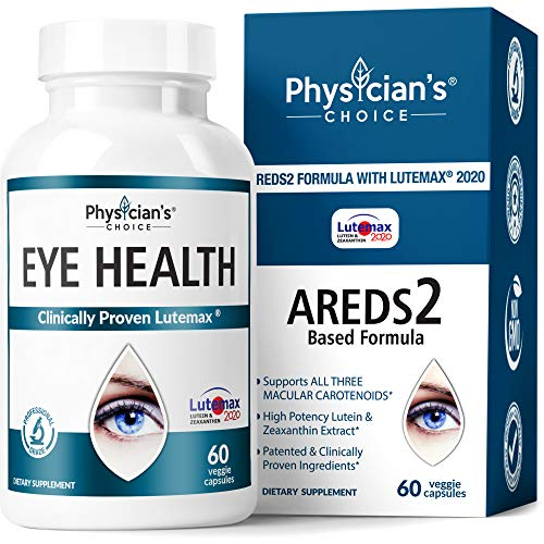 Areds 2 Eye Vitamins (Clinically Proven) Lutein and Zeaxanthin Supplement Lutemax 2020, Supports Eye Strain, Dry Eye, Eye and Vision Health, 2 Award Winning Eye Ingredients Plus Bilberry Extract