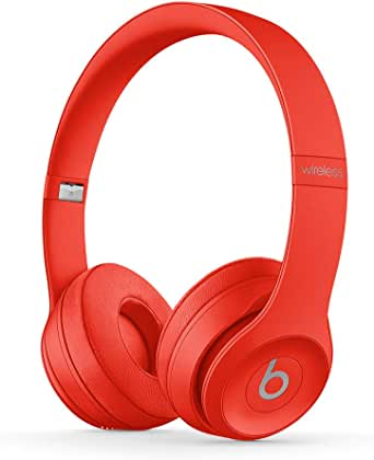 Beats Solo3 Wireless On-Ear Headphones - Apple W1 Headphone Chip, Class 1 Bluetooth, 40 Hours Of Listening Time - (PRODUCT)RED (Previous Model)