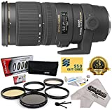 Sigma 70-200mm f/2.8 APO EX DG HSM OS FLD Large Aperture Telephoto Zoom Lens (589306) With 3 Year Extended Lens Warranty for The Nikon D1 D1X D1H D2X D2Xs D2H D2Hs D3 D3X D3s D100 D200 D300 D300S D700 D7000 D7100 D3000 D3100 D3200 D5000 D5100 D5200 D5300 D40 D40X D50 D60 D70 D90 D80 DSLR Camera Includes - 77MM Opteka Professional 5 Piece Lens Filter Accessory Kit + Deluxe Lens Cleaning Kit + LCD S