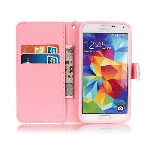 ANNNWZZD Multi-Functional Wallet Stand Case Funda Samsung Galaxy S5 / S5 Neo Funda con Soporte Plegable, Ranuras para Tarjetas y Billetes, Broche Magnético,A11 A04