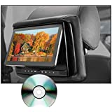 Concept RSD-905 Chameleon 9 Rear Seat Headrest TFT Monitor with Built-In DVD Player and 3 Color Interchangeable Covers (Grey, Tan, Black)