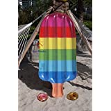 Home Wonder Popsicle Inflatable Pool Float, Giant Rainbow Popsicle, Inflatable Ice Cream, Pool Floats, Pool Lounge, Swimming Pool, Water Toy, Beach Toy, Cup Holder included (Free Drink Holder).
