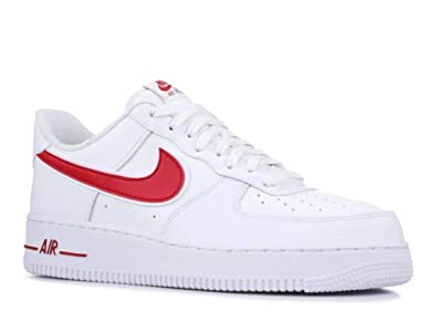 half off 5a880 148ff Nike Men s Air Force 1  07 3 Basketball Shoes White Gym Red, ...