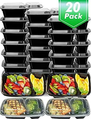 20 قطعة حافظات طعام تجهيز الطعام 2 مقصوصة حاوية تخزين طعام