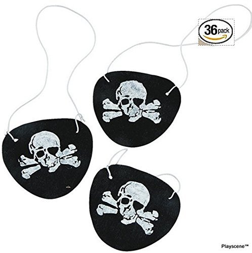 Playscene™ Felt Pirate Eye Patches - PARTY PACK OF 36 ! !