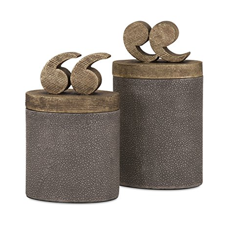 Imax Lidded Box - Beth Kushnick Quote Lidded Boxes - Set of 2