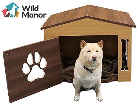 Perro de interiores/Premium Dog House/Casa Perro de madera (roble y nogal