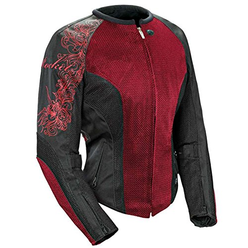 - Joe Rocket Cleo 2.2 Women's Mesh Motorcycle Riding Jacket (Wine/Black/Black, Large)