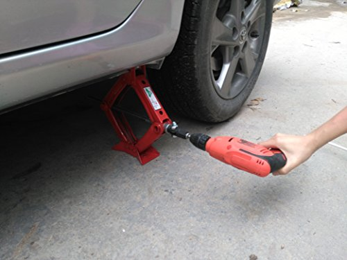 Dr.Roc 1/2'' Scissor Jack Adapter For Use With Drill/Wrench/Tire Iron To Accelerate by Dr.Roc (Image #4)