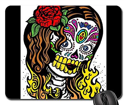 Mouse Pads - Skull Halloween Pattern Art Tattoo