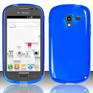 TRENDE - Cover For Samsung Galaxy Exhibit T599 Premium TPU Soft Blue Case (Compatible models: SGH-T599, T599)