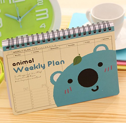 2017 Schedule Personal Goals Organizer Book,Animal Weekly Planner, 72 Pages, Monday to Sunday Each Page, To do List 7.5 X 5.5 inches (Sloth)