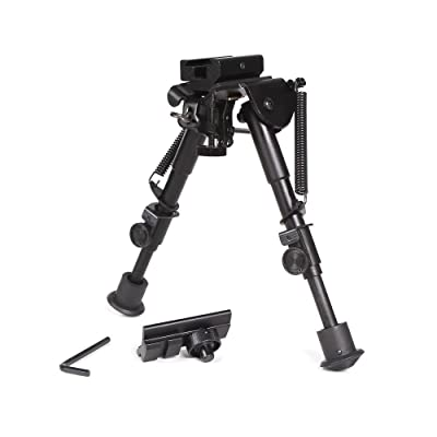 Ohuhu Adjustable Handy Spring Return Sniper Hunting Tactical Rifle Bipod, 6