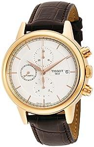 Amazon.com: Tissot Men's Carson White Dial Brown Leather Automatic