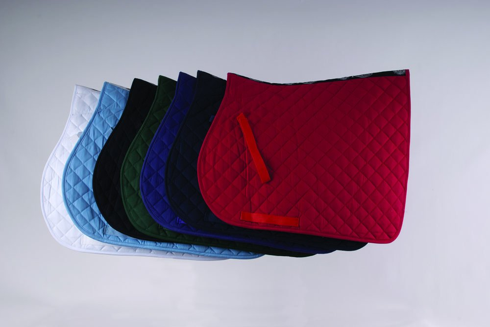 Rhinegold Cotton Quilted Saddle Cloth (Pony, Purple)