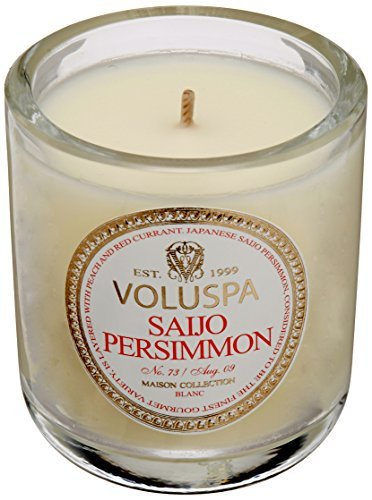 Voluspa Creme Votive Candle in Saijo Persimmon