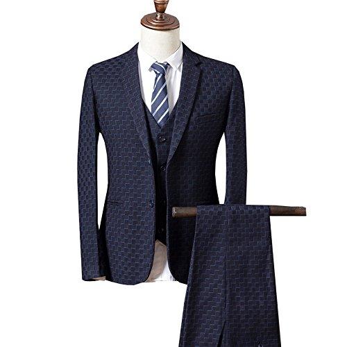 Vestito Blu Tasto Un Yffushi Strisce Regular Mens Tuta 3 Scuro Fit YT6gwqF